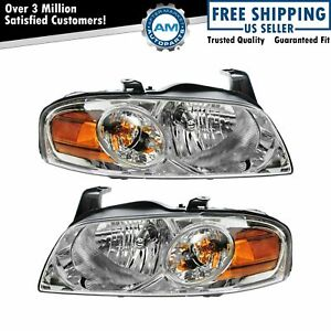 Models Headlights Headlamps Pair Set For 04 06 Nissan Sentra Base And S