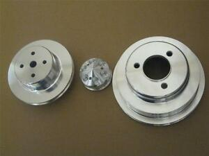 Big Block Chevy Lwp Aluminum Water Pump Crankshaft Alternator Pulley Kit Bbc