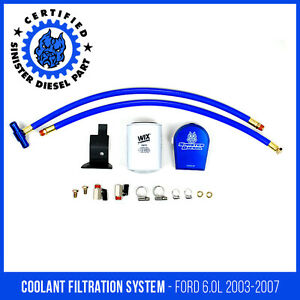Sinister Diesel Coolant Filtration System For Ford Powerstroke 2003 2007 6 0l
