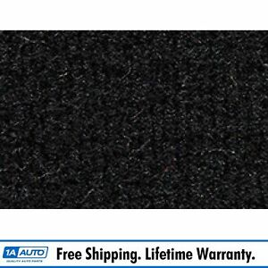 For 1977 Chevy Malibu 4 Door Cutpile 801 Black Complete Carpet Molded