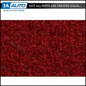 For 83 91 Mitsubishi Montero 2 Door Cutpile 815 red Passenger Area Carpet Molded