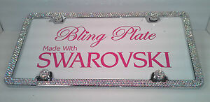 Ab Color Changing Crystal Bling License Plate Frame Made With Swarovski Elements