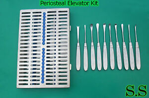 Periosteal Elevator Kit For Maxillofacial Surgery Dental Instruments