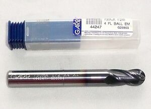 Garr Carbide End Mill 730ma 44247 4 Flute 1 2 x4 x1 G26904 new