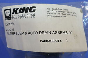 King Filter Sump Auto Drain Assembly 4522 5 Lot Of 5 kjs