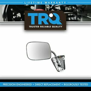 Trq Stainless Steel Manual Side View Mirror Left Or Right For Chevy Gmc Truck