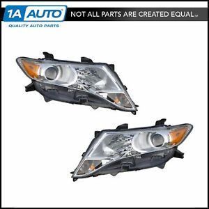 Halogen Headlight Headlamp Head Light Lamp Pair Set For 09 13 Toyota Venza