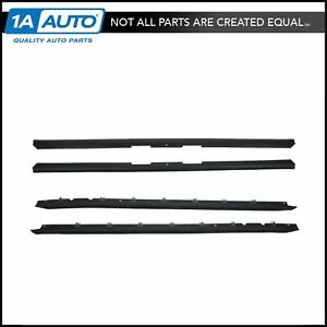 Window Sweep Weatherstrip Felt Seal Kit Set Of 4 For 84 89 Chevy Corvette