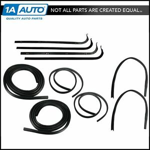 Door Window Run Channel Sweeps Seals Kit For 67 70 Ford F Series Pickup Truck