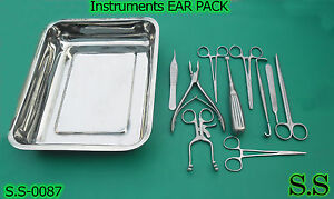 12 Instruments Ear Pack For Veterinary Instruments Clinics Surgical S s 0087