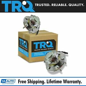 Trq Front Wheel Hubs Bearings 6 Lug Left Right Pair For Chevy Gmc 2wd 2x4