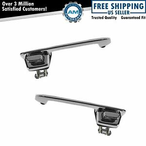 Chrome Exterior Outside Door Handle Pair Set For 78 93 Dodge Van Truck Pickup