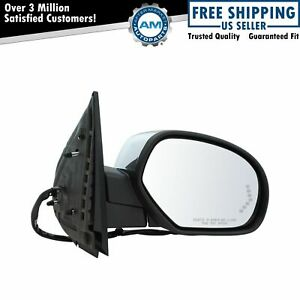 Mirror Power Folding Heated Memory Puddle Signal Chrome Right For Gm Pickup Suv