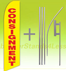 Consignment Swooper Flag Kit Feather Flutter Banner Sign 15 Yb