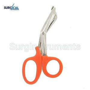 100 Orange Emt Shears scissors Bandage Paramedic Ems Rescue Supplies 7 25