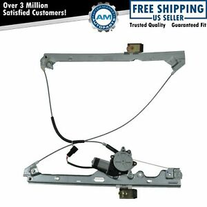 Power Window Regulator W Motor Front Driver Side Left Lh For Chevy Gmc Cadillac
