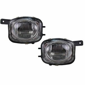 Fog Driving Lights Lamps Left Right Pair Set For 00 02 Mitsubishi Eclipse