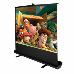 100 Inch 4 3 Portable Pull Up Floor Screen Projector Projection Aluminium Case