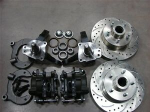 Mustang Ii 2 Front 11 Drilled Ford Rotor Disc Brake Stock Spindle Free Ss Lines