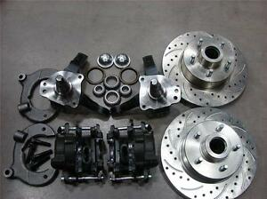 Mustang Ii 2 Front 11 Drilled Rotor Upgrade Disc Brake Kit Ford Stock Spindle