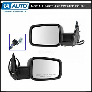 Mirrors Power Heated Folding Puddle Signal Left Right Pair Set For Ram 1500 2500