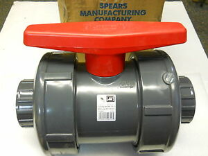 Spears 2332 025 Pvc Ball Valve True Union Socket 2 1 2 New Condition In Box