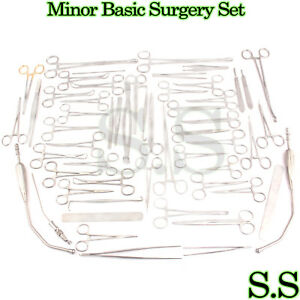 Minor Basic Surgery Set 92 Pieces Surgical Instruments s s 562