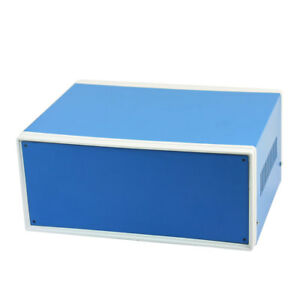9 8 X 7 5 X 4 3 Blue Metal Enclosure Project Case Diy Junction Box