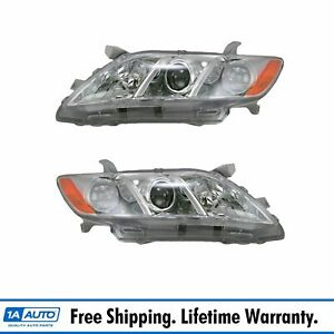 Headlights Headlamps Left Right Pair Set For 07 09 Toyota Camry Us Models