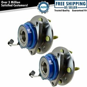 Rear Wheel Hub Bearing Pair Set W Abs 5 Lug For Cadillac Cts Sts
