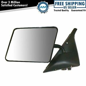 5x8 Black Manual Mirror Pair For Gmc Chevy Syclone Bravada Pickup Truck S 15 S10