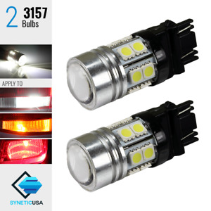2 X 3157 4114 6000k White Backup Reverse Projector Cree Smd Chip Led Light Bulbs