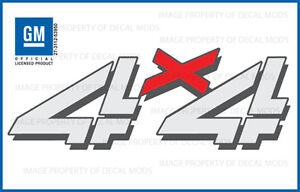 Set Of 2 2005 Gmc Sierra 4x4 Decals F Stickers Bed Side Hd 1500 2500 Chevy