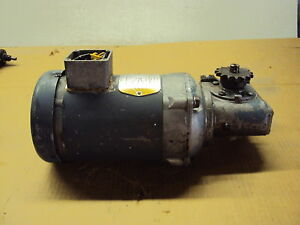 Baldor Motor Vm3538 With Morse Gear Box Hp 1 2 Fr 56c Rpm 1725 V 208 230 460