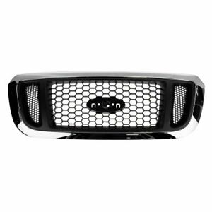 Grille Chrome And Argent Mesh Front For 04 05 Ford Ranger