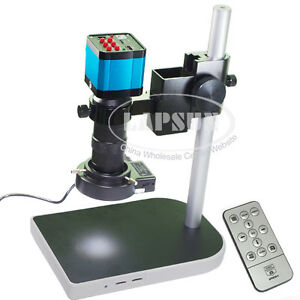 14mp Hdmi 1080p Usb Industry Microscope Video Camera Set C mount Lens Stand Lamp
