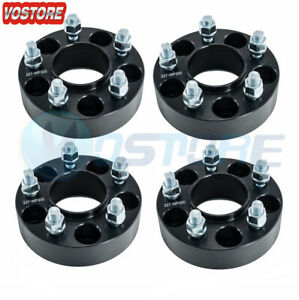 4x 1 5 Black Wheel Spacers 5x5 For Jeep Wrangler Jk Rubicon Hub Centric 5 Lug