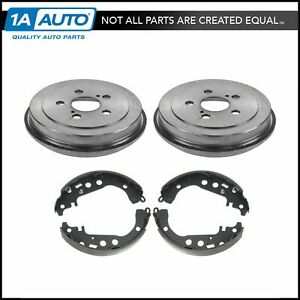 Nakamoto Rear Brake Drums Shoes Left Right Kit For 00 05 Toyota Celica 5 Lug
