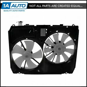 Radiator Dual Cooling Fan Assembly W Controller For 04 06 Lexus Rx330