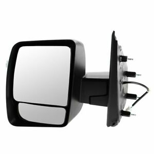 Mirror Power Black Textured Driver Side Left For Nissan Nv 1500 2500 3500