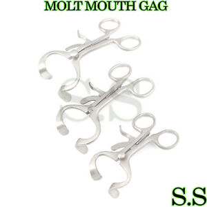 3 Sets 3 Molt Mouth Gag 3 50 4 50 5 50 Surgical Dental Anesthesia Instrument