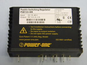 New Power one Psb155 91r Positive Switching Dc Regulator In 19 80v Out 15v 5a