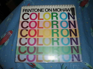 Very Rare Pantone On Mohawk Coloron color Ink On Color Paper 1989 vguc
