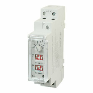 Zys11 260v 3a 0 6s 100h Din Rail Auto Timer Delay W On off Switch