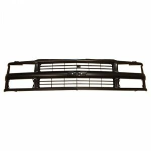 Grille Grill Front End Black For Chevy C k Pickup Truck Suburban Tahoe Blazer