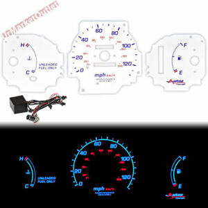 White Indiglo Glow Gauge For Honda Civic Dx 96 00 120mph No Rpm At