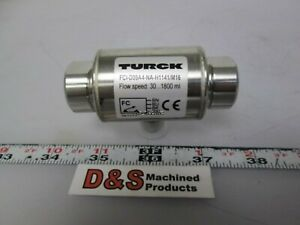 Turck Fci d09a4 na h1141 m16 Flow Sensor 90 1800ml min Oil 30 900ml min Water
