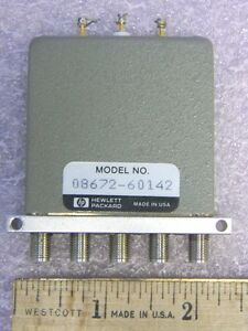 Hp 08672 60142 Sma Rf Coaxial Switch 5 port Dc 18ghz 24vdc Drive