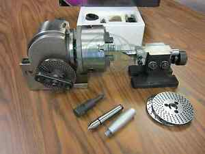 Bs 1 Precision Dividing Head With 6 3 jaw Chuck Tailstock Part Bs 1 new