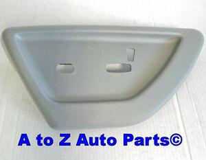New 2006 2009 Chevrolet Trailblazer Driver Grey Power Seat Trim Cover Oem Gm